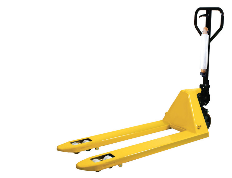 The forklift caddy and hand pallet truck caddy